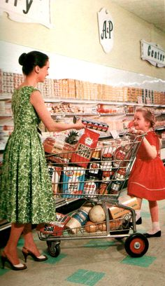 Retail & Shopping - 48 Cool Pics Show How People Went Shopping From the and Vintage Love, Vintage Shops, Retro Vintage, Vintage Woman, Vintage Games, 1960s Aesthetic, Aesthetic Vintage, Retro Recipes, Vintage Recipes