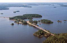 The bridge of Sääksmäki in the Middle Finland.