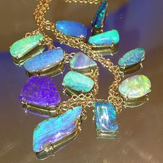 irene Neuwirth boulder opal necklace, Photo by ylang23