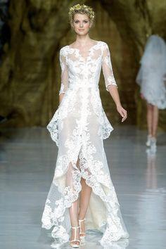 Pronovias, Spring 2014  Would make a gorgeous wedding dress!