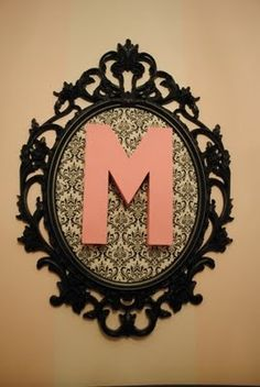 """Could recreate using old mirror painted black, cover the mirrored part in zebra print and add an """"H""""!"""