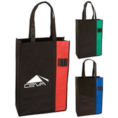 Promotional Nonwoven Two-Tone Convention Tote Bag