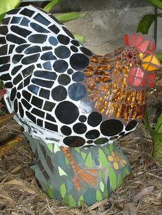 Henrietta Chicken by Smash!Mosaics - awesome!