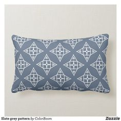 Slate grey pattern lumbar pillow Blue Cushions, Grey Cushions, Lumbar Pillow, Throw Pillows, Grey Home Decor, Grey Pattern, Decorative Cushions, Custom Pillows, Slate