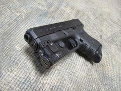 glock 26 gen 4 w/ custom light/laser combo rail attachment & extended finger rest buttplate