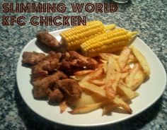 KFC Slimming World Style 'Kentucky Fried Chicken' Low Calorie Recipes, Diet Recipes, Cooking Recipes, Healthy Recipes, Delicious Recipes, Kentucky Chicken, Kentucky Fried, Slimming World Treats, Slimming World Diet