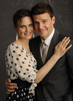 Emily Deschanel and David Boreanaz star in the TV show Bones My favorite tv couple, EVER! Better than Bruce Willis and Cybil Shepperd in Moonlighting, even, which is now my second favorite!