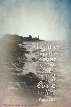 Sterker dan de golven van de zee, is Zijn liefde voor jou! www.tinekederaat.blogspot.com