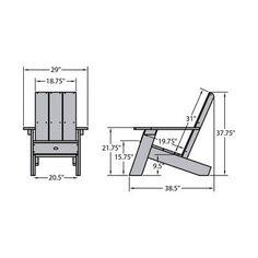 Diy Furniture Outdoor Patio Chairs - New ideas Diy Outdoor Furniture, Pallet Furniture, Furniture Projects, Garden Furniture, Modern Furniture, Adirondack Chair Plans, Adirondack Furniture, Woodworking Projects Diy, Diy Wood Projects
