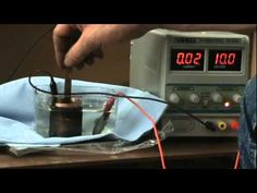 Paul demonstrates how he electroplated silver over copper tubes. Use distilled water, zero parts per million(0 ppm), then to add a very small amount of Silve...