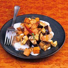 Tofu-Korma mit Auberginen und Süßkartoffeln