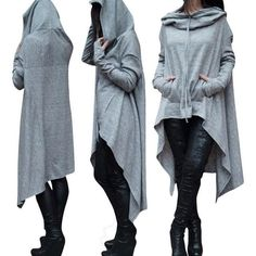 Preself Oversize Hoodie Sweatshirt Women Casual Outwear Hoody Loose Long Sleeve Mantle Hooded Cover Pullover Clothes 2017 New