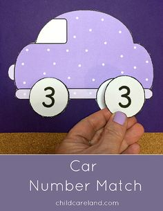 Car Number Match for letter recognition and review.