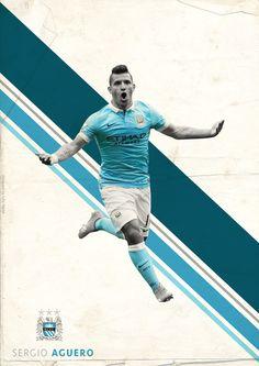 BPL Star Players 2015/16 on Behance - Sergio Aguero - Manchester City