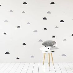 Adairs Kids Clouds Removable Wall Stickers, kids wall art, kids rooms