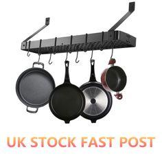 Hanging Pot Rack Holder Pan Organizer Hook Wall Mounted Kitchen Cookware Storage in Home, Furniture & DIY, Cookware, Dining & Bar, Food & Kitchen Storage | eBay