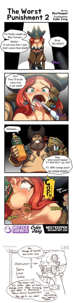 Miss Fortune doesn't deserve this! If someone deserves it, it's Gangplank. He killed her family and friends :(