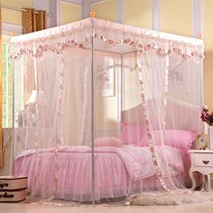 JIA&YOU Summer lace soft mosquito autumn bedroom Palace-landing nets