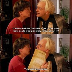 Back to the Future - the letter