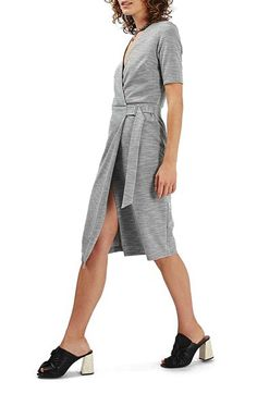 Topshop Topshop Belted Wrap Midi Dress available at #Nordstrom