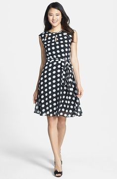 wallis Keyhole Neck Fit & Flare Dress available at #Nordstrom
