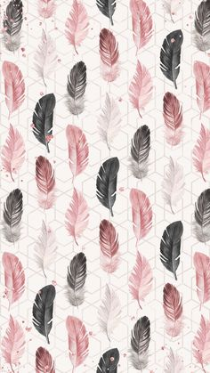 Feather pattern #IphoneBackgrounds