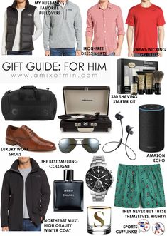 Ultimate holiday Gift Guide fro Him - boyfriend, dad, husband, fiance!