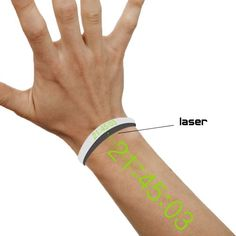Laser Watch. The watch itself looks like a simple baller band in white and gray. But just press a button, and the time will be projected on your arm in laser light so you (and everyone else around you) can read the time off of it.