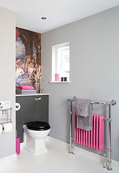 Aménagement salle de bains en turquoise, rose et orange: 25 idées