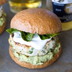 Cheddar Jalapeno Burgers with Guacamole