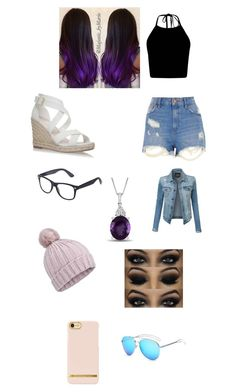 """""""Summer day"""" by raybabe ❤ liked on Polyvore featuring River Island, LE3NO and Miss Selfridge"""