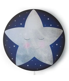 Star inspired wall lamp for kid's room or Nursery.