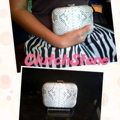 Clutch bakel small python skin natural IDR : 985.000 include shipping Indonesia only