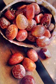 """newmoongoddess: """" One of my personal favourite high energy stones. Fire agate is rare and protective, sending any bad energy attack on you, back to sender… Nice eh?! Everyone needs one of these bad..."""