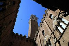 Torre del Mangia -- When built it was one of the tallest secular towers in medieval Italy.