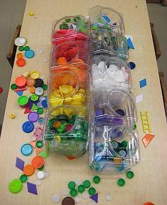 "Sorting Bottle Tops & Lids at Reggio Children Inspired ("",) Preschool At Home, Classroom Activities, Learning Activities, Preschool Activities, Hands On Activities, Reggio Children, Just Kids, Early Years Maths, Maths Area"