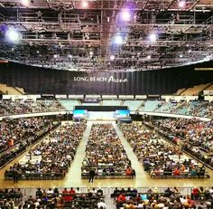 2016...More than 7000 in attendance at the regional convention of Jehovah's Witnesses @ Long beach, California .