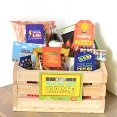 Give the perfect gamer gift - a basket filled with everything from energizing snacks to practical video game necessities.