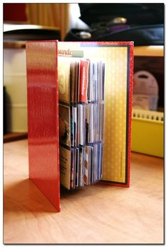 Week in the Life using business card album
