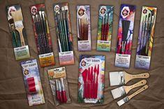Silver Brush Limited The Art Sherpa Long Handle Fan Size 6 Acrylic Paint Brush