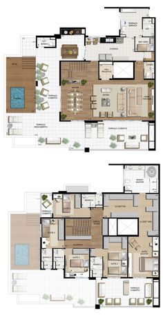 Home Room Design, Small House Design, Home Design Plans, Casas The Sims Freeplay, Casas The Sims 4, Small House Floor Plans, Apartment Floor Plans, House Blueprints, Sims House