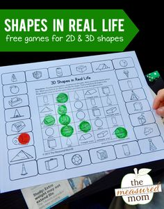 2D and 3D Shape games - The Measured Mom