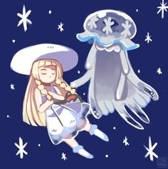 Lillie with UB-01, the first Ultra Beast from Pokemon Sun and Pokemon Moon to be…