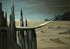 Kay Sage, Danger, Construction Ahead, 1940, Oil on canvas. The American…