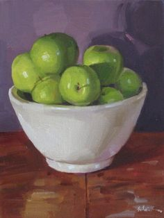Bowl of Granny Smith Apples  by artist Sarah Sedwick