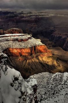 The beautiful Grand Canyon, Arizona in winter. The South Rim is open year round, but the North Rim has limited access from mid-October until mid-May.