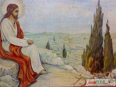 Jézus az olajfák hegyén, olajfestmény szignóval furnér lemezen, V Painting, Art, Art Background, Painting Art, Kunst, Paintings, Performing Arts, Painted Canvas, Drawings