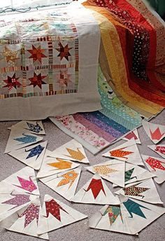 Rainbows & Cranes by PatchworkPottery, via Flickr