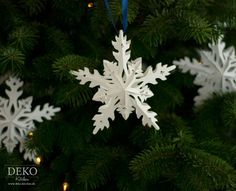 DIY: Sterne basteln in Eiskristall-Optik Deko-Kitchen