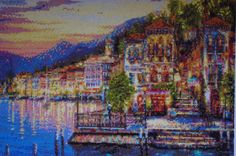 Mediterranean Evening - Diamond Painting Home Decoration Finished Completed Wall Decor Embroidery Cross Stitch Rhinestone Needlework Mosaic